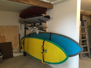 Double Suspension SUP Wall Rack | 2 Paddleboards