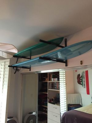 Heavy Duty Metal Surfboard Wall Storage Rack