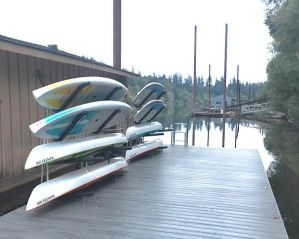 Stainless Steel SUP and Kayak Rack | Customizable Outdoor Dock Storage