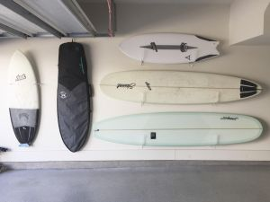 Clear Acrylic Surfboard Wall Rack