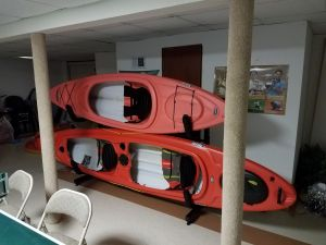 Heavy Duty Free-Standing Kayak Storage Rack
