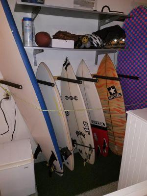 Vertical Surfboard Wall Rack | 3, 6, or 9 Wood Surf Rack