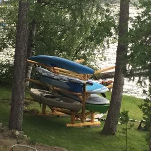6 SUP and Kayak Storage Rack | Freestanding Log Rack