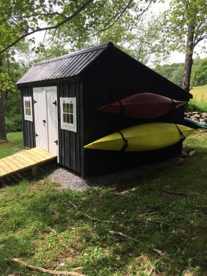 Outdoor Kayak Wall Rack | Marine Grade Construction