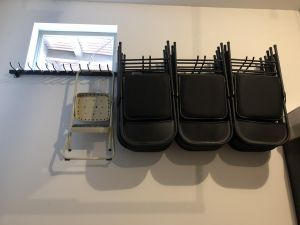 Omni Chair Rack | Wall Mounted Storage Rack and Garage Organizer