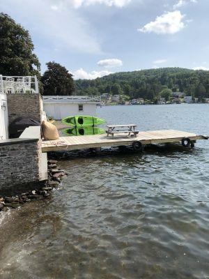 Over-Water Kayak & SUP Rack | Dock Rack for 2 Kayaks or Paddleboards