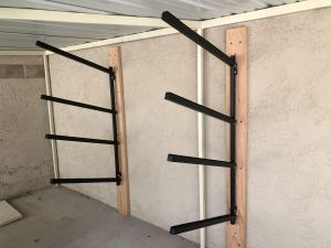 Omni Adjustable SUP Rack | Wall Mounted Storage | Up to 4 Paddleboards