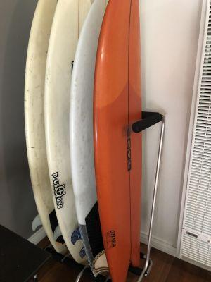 Freestanding 4 Surfboard Rax   Ocean & Earth   Silver-Black