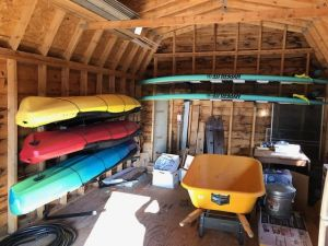 Omni Adjustable Kayak Rack | Wall Mounted Storage | Up to 4 Kayaks